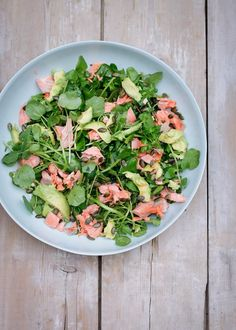 Salmon, Avocado, Watercress and Pumpkin Seed Salad | Nigella's Recipes | Nigella Lawson