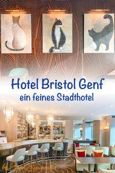 Dies ist der Hoteltipp zu unserer Genf-Reportage. Die Lage des 4-Sterne-Hauses ist genial, denn ganz viele Sehenswürdigkeiten sind von dort gut zu Fuss erreichbar. Wir haben uns sehr wohl gefühlt, aber das ist ja kein Wunder, wenn im hoteleigenen Gourmetrestaurant so hübsche Katzenbilder hängen. Sagt die Katzenfreundin ;-) Bristol, Reportage, Hotels, Restaurant, Historic Houses, Geneva, Fresh, City, Diner Restaurant