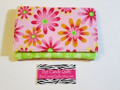 Bright Floral Women's Wallet Wallet Card Wallet by EyeCandyQuilts, $9.75