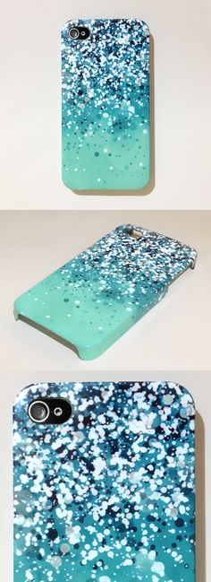 Sparkly iPhone Case... super easy to make your own! 1. get a white iphone case or a colored plain case  2. put on sparkles!!