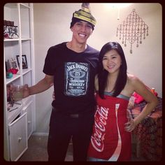 Pin for Later: Bite Me: 40+ Halloween Costumes Inspired by Your Favorite Foods Jack and Coke