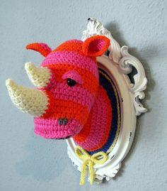 Crochet Rhino by manafka mina, via Flickr
