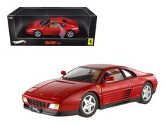 Hot wheels 1989 Ferrari 348 TB Red Elite Edition 1/18 Diecast Car Model by Hotwheels - Brand new 1:18 scale diecast model car of 1989 Ferrari 348 TB Red Elite Edition die cast car model by Hotwheels. Limited Edition 1 of 5000 Produced Worldwide. The Ferrari 348 TB made its debut at the 1989 Frankfurt Auto Show. With its high standard of build quality along with exceptional performance, the 2-seat sports car quickly became very popular. Like most of the Ferrari models, the body was designed…