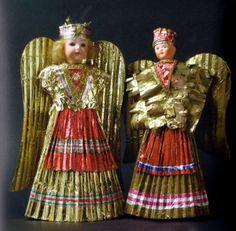 """Early 1900's....from """"Himmlische Boten Nurnberg und seine Rauschgoldengel"""" Susanne von Goessel-Steinmann"""