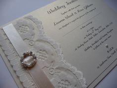 Luxury Vintage Lace wedding invitations