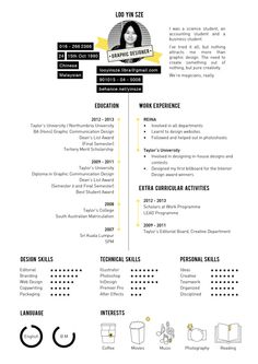 Yin Sze's Curriculum Vitae 2014 by Yin Sze Loo, via Behance Page Layout Design, Design Portfolio Layout, Portfolio Resume, Web Design, Portfolio Web, Cv Resume Template, Resume Design Template, Design Curriculum, Cv Community Manager