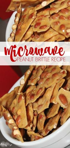 Homemade Peanut Brittle Microwave Recipe! The perfect Christmas Treat or Dessert Recipe for Office Parties or for the Neighbors!
