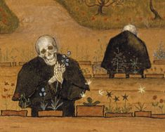 All things old, bizarre and beautiful — Kuoleman puutarha /The garden of Death by Hugo. Death Tattoo, Virtual Art, Danse Macabre, Vintage Artwork, Tattoo Inspiration, Art Gallery, Wall Art, Artist, Painting