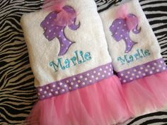 Tutu decorative bath towels perfect for your by SewMeTheMoney, $29.99