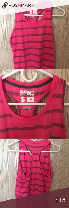 Adidas tank top Like new!! Great work out tank top adidas Tops Tank Tops