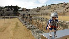 In amphitheatro Italicae, hodie appellata Santiponce