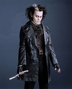 Johnny Depp as Sweeney Todd. Costume designed by Colleen Atwood.