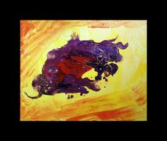 """Buy Abstract Art Raging Bull Acrylic on canvas board10""""x 8"""" (Offer), Acrylic painting by Art by Aashaa on Artfinder. Discover thousands of other original paintings, prints, sculptures and photography from independent artists."""