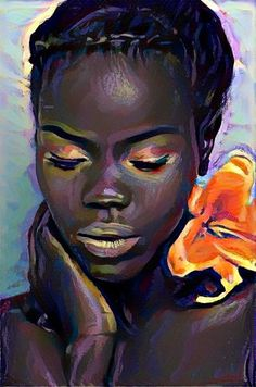 Painting of face black art pictures, african american art, black girl art, black Art Gallery, American Art, African, Culture Art, Female Art, Art, African American Art, Art Pictures, Portrait Art