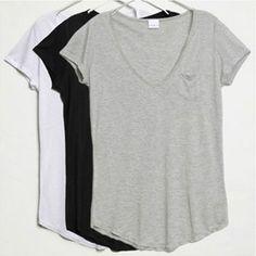 Women Junior Basic Plain Casual Cotton Short Sleeve Slim V-Neck Tee T-Shirt Tops New Fashion, Womens Fashion, Fashion 2014, Fall Fashion, Fashion Ideas, Great T Shirts, Basic Tees, V Neck Tee, So Little Time