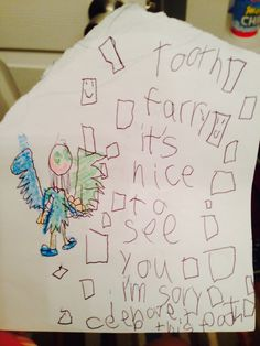 First Lost Tooth Letter  Tooth Fairy And Unique Ideas And Letters