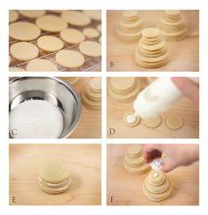 tutorial de tortas de galletas <3