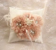 Hand Dyed Blush Ring Bearer Pillow, Blush and #weddings #decoration @EtsyMktgTool http://etsy.me/2fl5veb