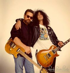 Eddie Van Halen & Slash by Mark Hanauer Eddie Van Halen, Sound Of Music, Music Is Life, My Music, Music Stuff, Blues Rock, Rock N Roll Music, Rock And Roll, Hard Rock