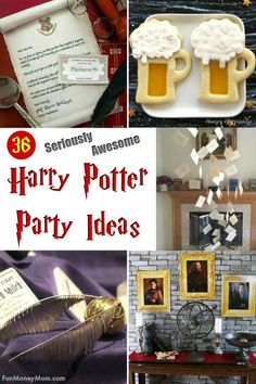 Harry Potter Party - If you're throwing a Harry Potter birthday party, you're going to want to check out these super creative ideas! From Harry Potter invitations to decor, everything you need for an awesome party is here! Harry Potter Classroom, Harry Potter Baby Shower, Harry Potter Halloween, Harry Potter Decor, Harry Potter Christmas, Harry Potter Birthday, Harry Potter Invitations, Birthday Supplies, Birthday Ideas