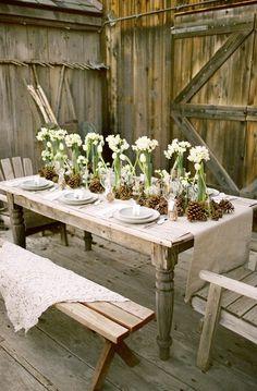 Uno stile rustico per la vostra tavola
