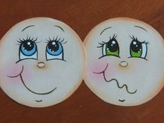 Artes Mariana Santos!: Pintando Carinhas de Bonecas!