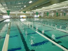 Westside Aquatic Center, pool set up for long course
