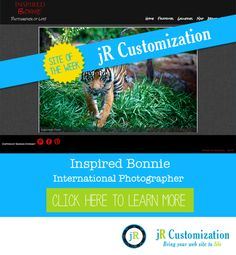 #SmugMug site of the week - Inspired Bonnie - click to read more