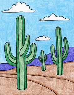 How to Draw a Cactus · Art Projects for Kids