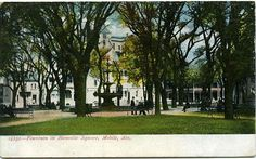 Postcard of Bienville Square, Mobile, AL