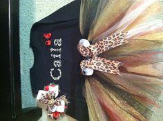 Leopard red cream gold tutu by Veronica Arreola $32 set