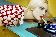 Miles Aldridge // those colors! Surrealism artwork.