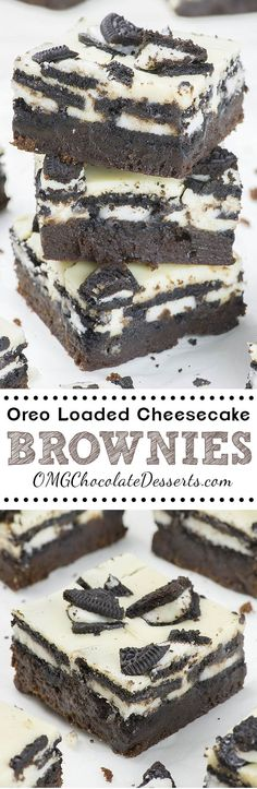 Oreo Loaded Cheesecake Brownies are rich and fudgy homemade brownies topped with layer of double stuf Oreos, cheesecake, plus more Oreo cookies on top. In other word, these could be the best brownies you've ever tasted!!!
