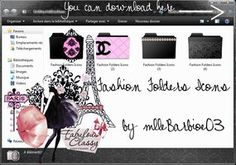 Fashion Folders icons for girls.