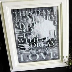 Wedding Subway Art Picture Frame