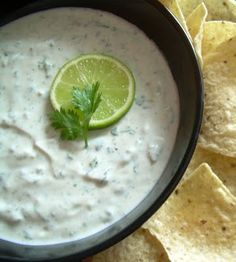 Repinning: CHUY'S Creamy Jalapeno Dip - 16 oz [light] sour cream  1 packet Ranch dip mix  2-3 large jalapenos, finely chopped (about 1/2 cup)  2-3 cloves of garlic, minced (I used 2 but next time would probably do 3, I really like garlic. Just taste as you go.)  1/3 cup chopped, fresh cilantro  Juice of a lime  Milk, optional. Made it and it's as close as I'll get to the real thing!