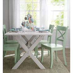 Vintner Mint Side Chair and Cushion    Crate and Barrel