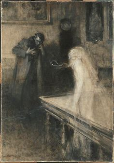 Serafino Macchiati Le Visionnaire Oil on canvas - Musée d'Orsay, Paris Arte Horror, Horror Art, Culture Art, Bizarre, Italian Painters, Gothic Art, Oeuvre D'art, Dark Art, Fantasy Art