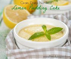Lemon Pudding Cake  #glutenfree #grainfree #paleo