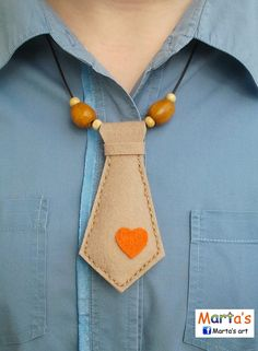 felt tie necklace. This would be a cute way to identify the male part of contra dancing when 2 females dance.