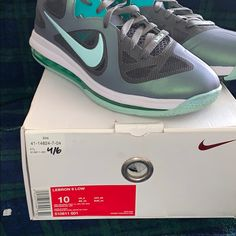the best attitude e7e3c 3734e Nike Shoes   Lebron 9 Low Easter   Color  Gray Green   Size