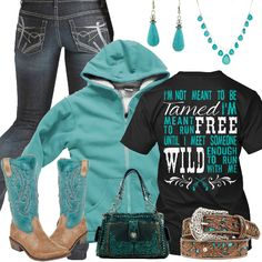Not Meant To Be Tamed Outfit - Real Country Ladies