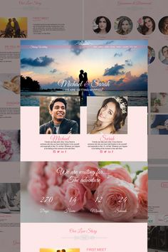 Shining Wedding Landing Page Template Planner Template, Page Template, Layout Template, Website Template, Label Templates, Wedding Templates, Event Landing Page, Website Color Schemes, Landing Page Inspiration