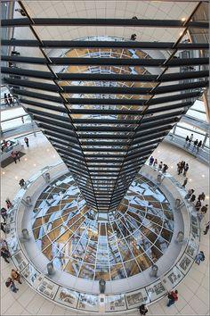 Inside top of the German Parliament - Deutscher Bundestag - Reichstagsgebäude am Platz der Republik - Berlin Germany/Deutschland
