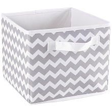 Use to store soaps, blankets, & other baby essentials on the changing table or on the bookshelf. Koala Baby - Gray Chevron Print Canvas Folding Bin