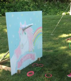 Unicorn birthday Unicorn ring toss