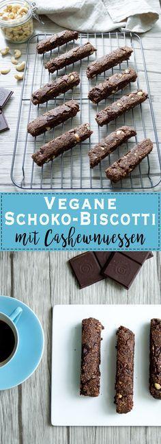 Dieses Rezept für Schoko Biscotti ist mein Lieblingsrezept für das italienische Kaffeegebäck Biscotti. Es ist auch etwas speziell. Ich habe gleich zweifach Schokolade drin und Cashewkerne. Außerdem ist es vegan und Weizenfrei. Einfach Gesunde Rezepte - Elle Republic