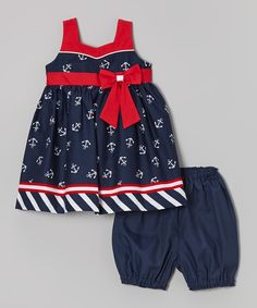 Clothing, Shoes & Accessories Goodlad Dress With Bloomers 12 Month Sailor Boats Dresses