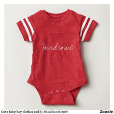 Cute baby boy clothes red shirts
