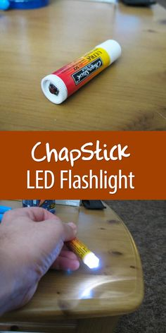 It looks like Chap Stick, but it's actually… a cute little flashlight! Fun gift for a kid.